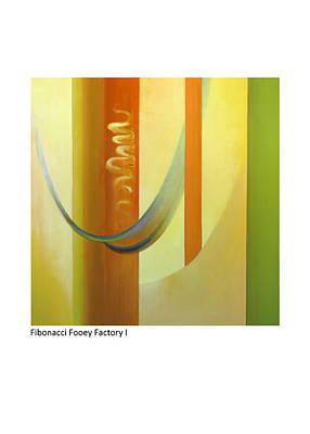 Painting - Fibonacci Fooey Factory I by Betsy Derrick
