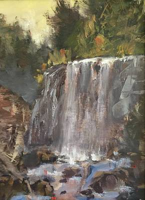 Painting - Fictitious Falls by Marty Coulter