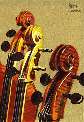 Pastel - Fiddle Heads by Keith Gantos