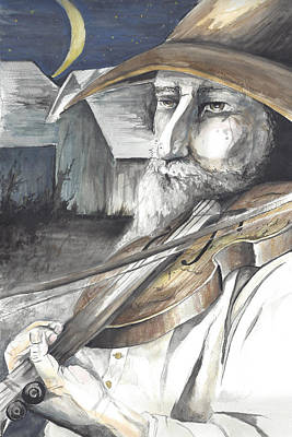 Fiddler On The Roof Painting - Fiddler by Colleen Stiles