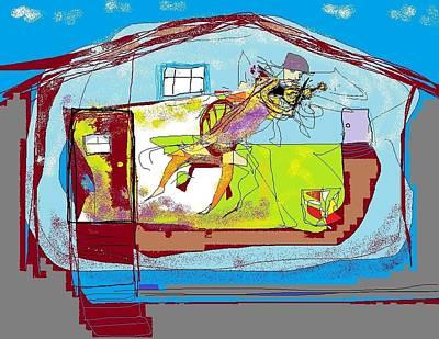 Digital Art - Fiddler In A Room  by Jim Taylor