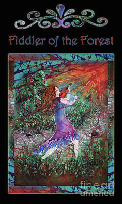 Mixed Media - Fiddler Of The Forest 3bl by Sue Duda