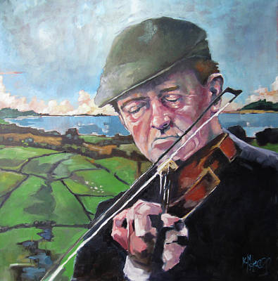 Painting - Fiddler by Kevin McKrell
