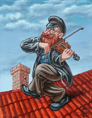 Painting - Fiddler On The Roof. Redhead by Victor Molev