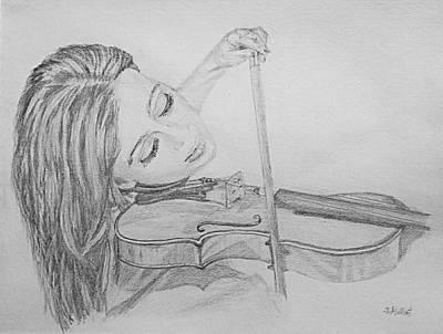 Drawing - Fiddler by Sheryl Gallant