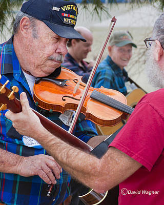 Vet Mixed Media - Fiddlers Contest by David Wagner