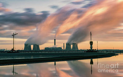 Fiddlers Ferry Power Station Art Print