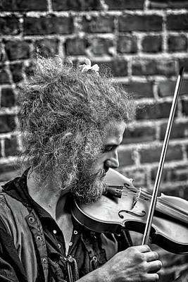 Photograph - Fiddling On Wall Street by John Haldane