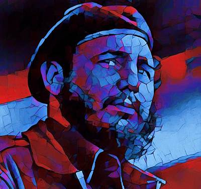 Socialist Mixed Media - Fidel by Dan Sproul