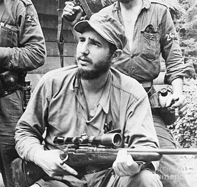 Socialism Painting - Fidel During Revolution by Pd