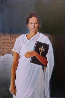 Painting - Fidelis Ad Mortum Portrait Of Esther John by Gordon Bell