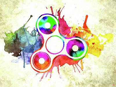 Mixed Media - Fidget Spinner by Daniel Janda
