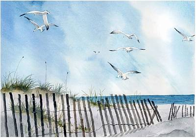 Field 6 Seagulls Painting By Stan Swenson