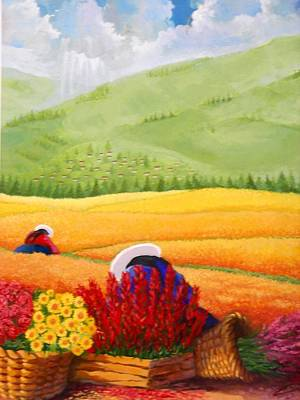 Painting - Field And Beautiful  by Victor Cuya