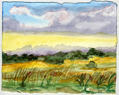 Field And Sky 2 Art Print by Warren Thompson