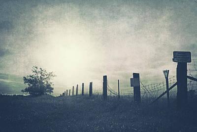 Field Beyond The Fence Art Print