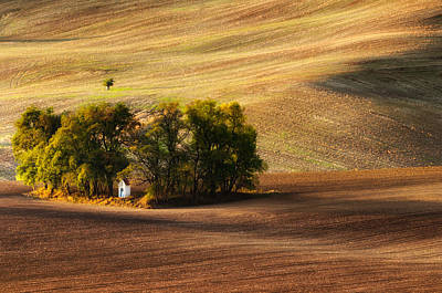 Moravia Photograph - Field Chapel by Piotr Krol (bax)