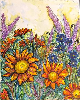 Painting - Field Flowers #2 by Rae Chichilnitsky