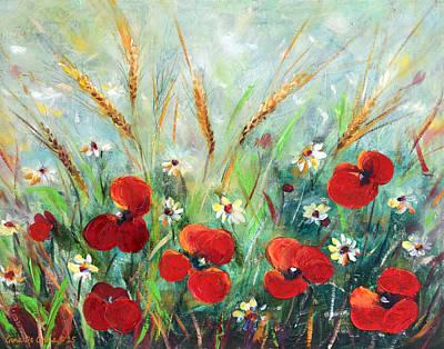 Painting - Field Flowers by Gina De Gorna