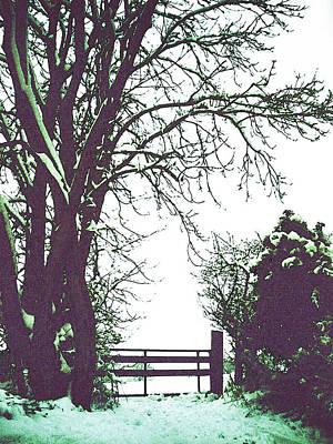 Field Gate Art Print by Anne Kotan