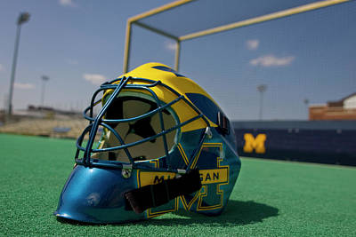 Photograph - Field Hockey Helmet by Michigan Helmet