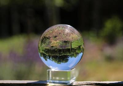 Photograph - Field In A Crystal Ball by Karen Silvestri