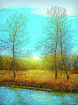 Digital Art - Field In Morning Light by Joel Bruce Wallach