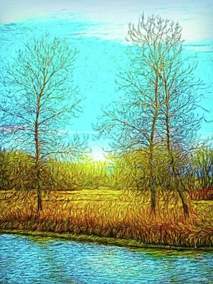 Field In Morning Light Art Print