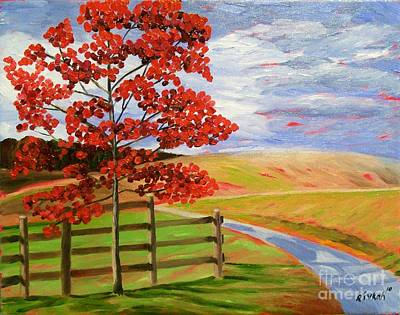 Painting - Field Landscape by Rivkah Singh