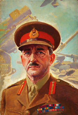 Painting - Field Marshall Lord Alan Brooke by Mountain Dreams