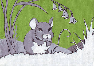 Field Mouse Art Print by Sarah Webb