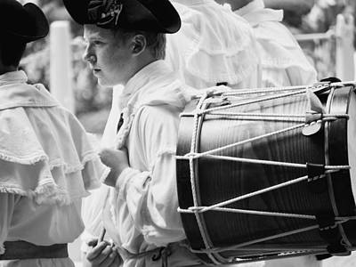 Marching Band Photograph - Field Musician Of Colonial Williamsburg by Rachel Morrison