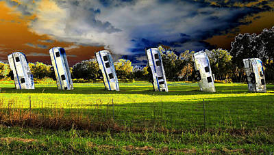 Airstream Trailer Painting - Field Of Airstreams by David Lee Thompson