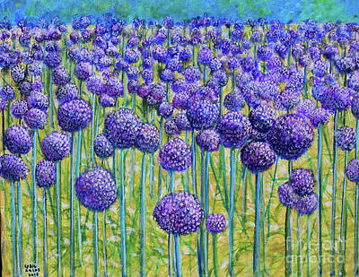 Painting - Field Of Allium by Lyric Lucas