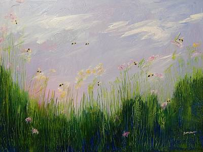 Field Of Bee's Art Print by Sue Furrow