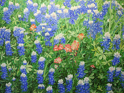 Painting - Field Of Blue by Mike Ivey
