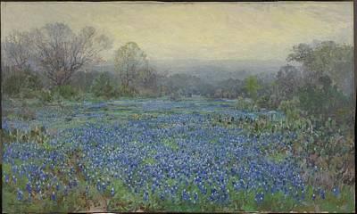 Painting - Field Of Bluebonnets by Julian Onderdonk