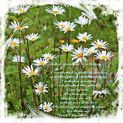 Field Of Daisies Print by Barbara Griffin