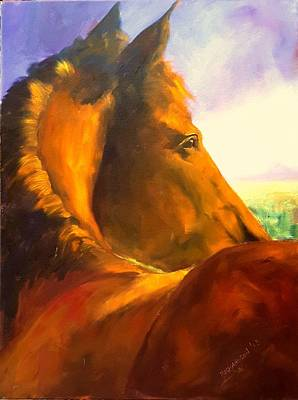 Horse Images Painting - Field Of Dreams by Susan Richardson