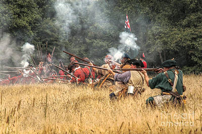 Field Of Fire French And Indian War Battle Art Print by Randy Steele