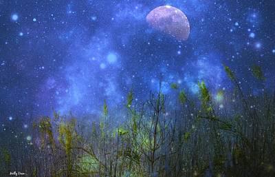 Field Of Fireflies Art Print by Molly Dean