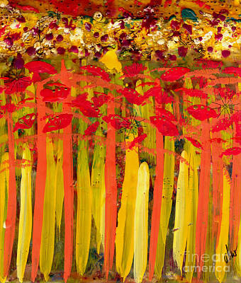 Mixed Media - Field Of Flowers by Angela L Walker