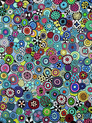 Painting - Field Of Blooms by Beth Ann Scott
