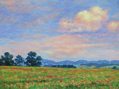 Painting - Field Of Flowers- Burkes Garden Fields by Bonnie Mason