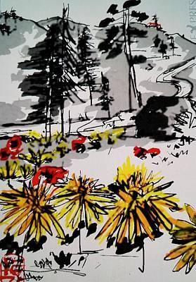 Digital Art - Field Of Flowers by Debbi Saccomanno Chan