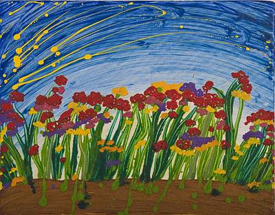 Field Of Flowers Print by Hagit Dayan