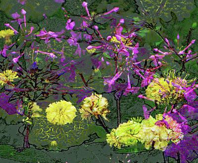 Digital Art - Field Of Flowers by Janet Duffey