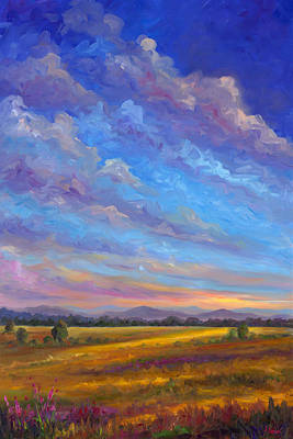 Blue Ridge Painting - Field Of Flowers by Jeff Pittman