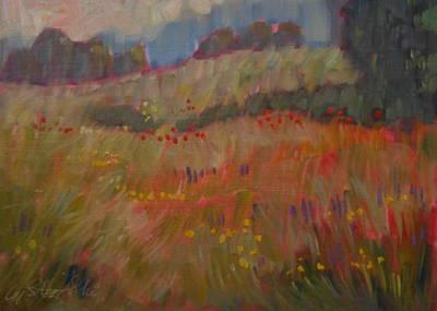 Field Of Flowers Print by Len Stomski