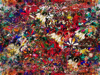 Gerber Daisy Mixed Media - Field Of Flowers by Natalie Holland